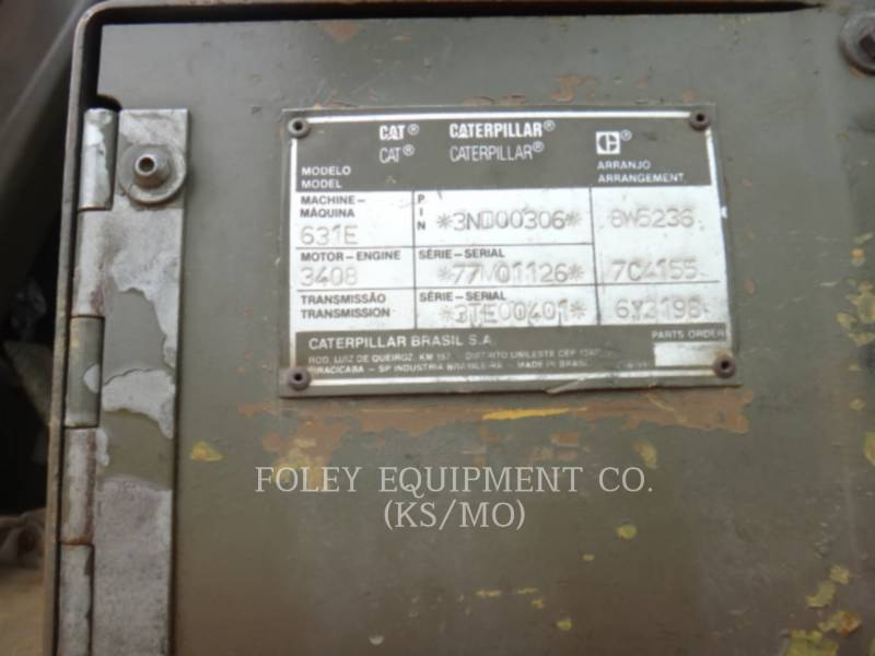 CATERPILLAR MOTOESCREPAS 631E equipment  photo 6