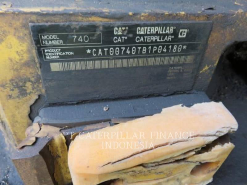 CATERPILLAR CAMIONES ARTICULADOS 740 equipment  photo 3