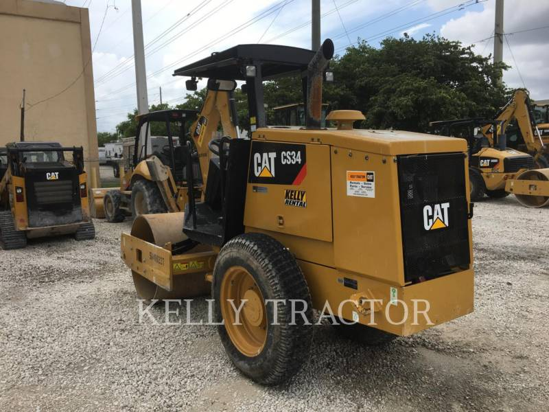 CATERPILLAR VIBRATORY SINGLE DRUM SMOOTH CS34 equipment  photo 3