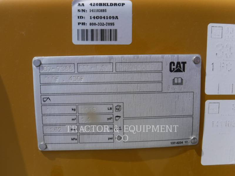 CATERPILLAR WT - BUCKET 420BKLDRGP equipment  photo 1