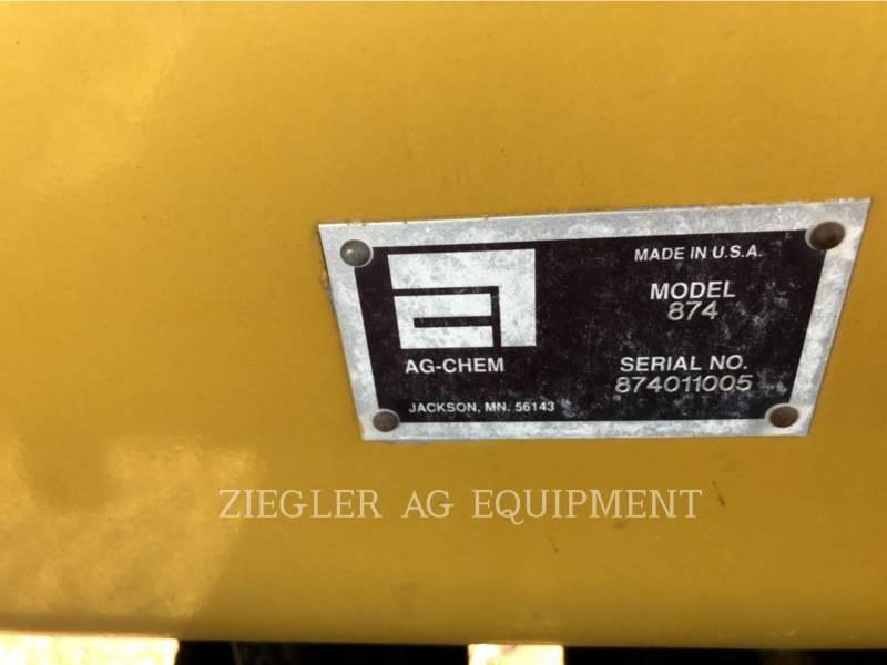 AG-CHEM SPRAYER 874 equipment  photo 16