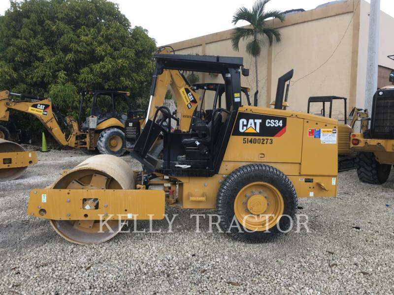 CATERPILLAR VIBRATORY SINGLE DRUM SMOOTH CS 34 equipment  photo 2
