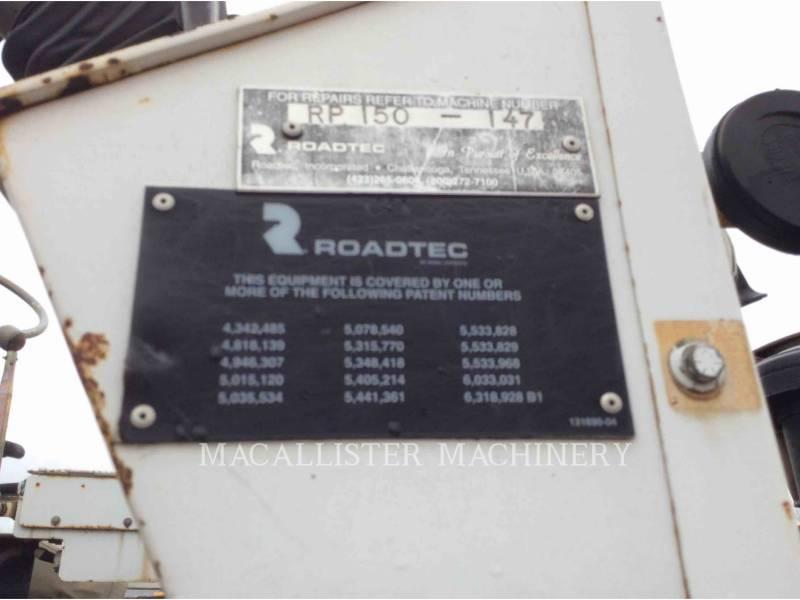 ROADTEC ASPHALT PAVERS RP150 equipment  photo 5