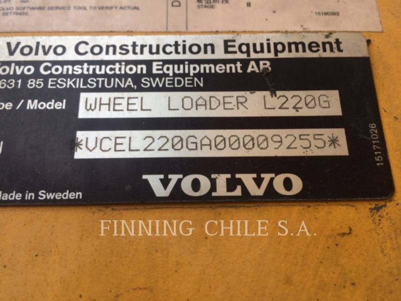 VOLVO MINING WHEEL LOADER L220G equipment  photo 3