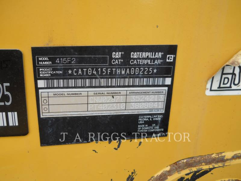 CATERPILLAR TERNE 415F 4 equipment  photo 23