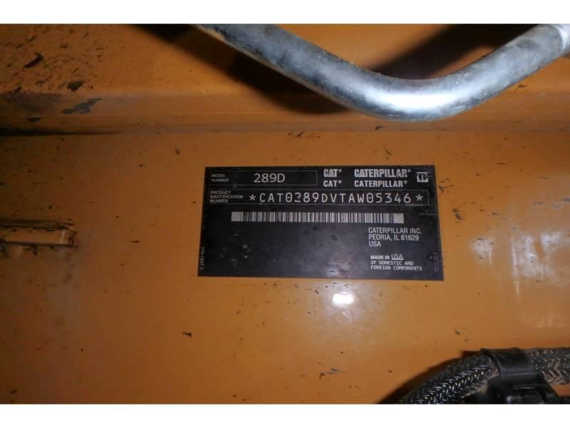 CATERPILLAR CHARGEURS TOUT TERRAIN 289D equipment  photo 18