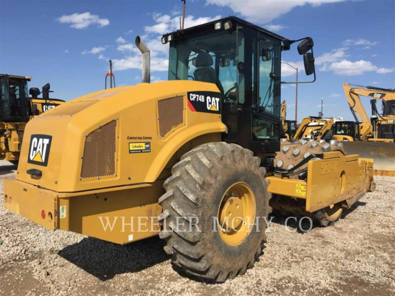 CATERPILLAR VIBRATORY SINGLE DRUM PAD CP74B equipment  photo 1