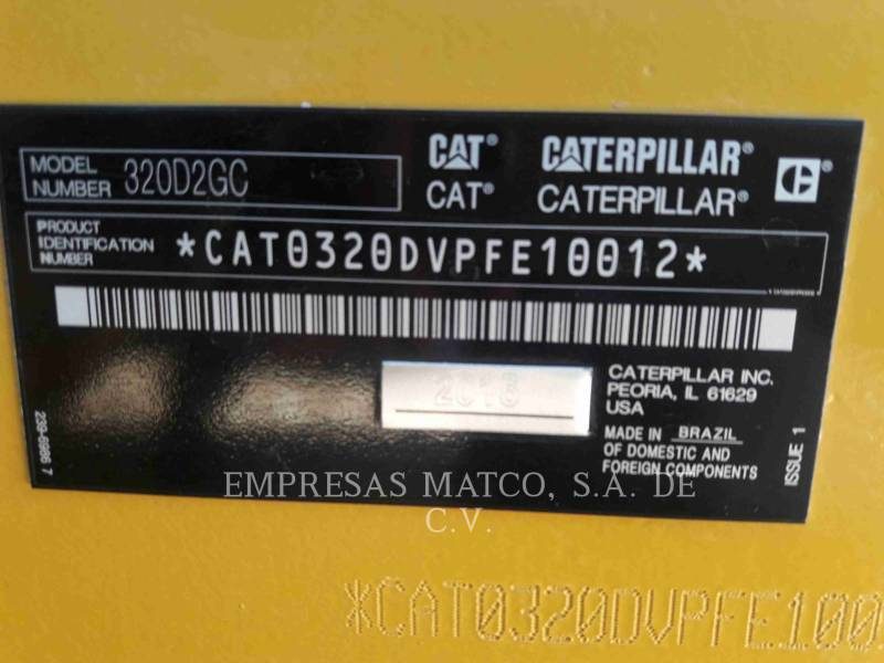 CATERPILLAR EXCAVADORAS DE CADENAS 320 D 2 GC equipment  photo 9