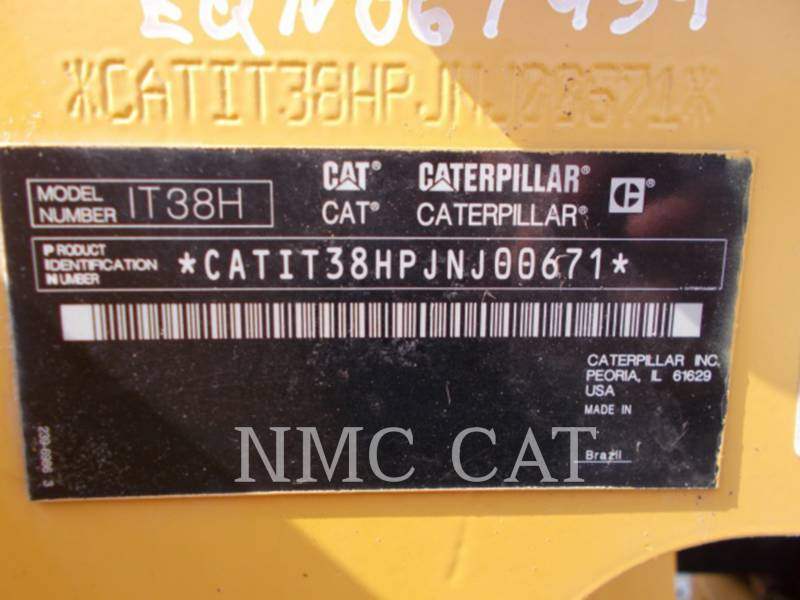 CATERPILLAR PALE GOMMATE/PALE GOMMATE MULTIUSO IT38H equipment  photo 1