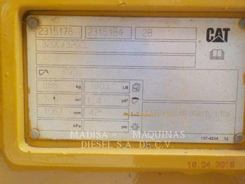 CATERPILLAR トラック油圧ショベル 320DL equipment  photo 12