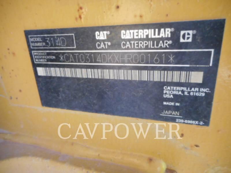 CATERPILLAR TRACK EXCAVATORS 314DLCR equipment  photo 11