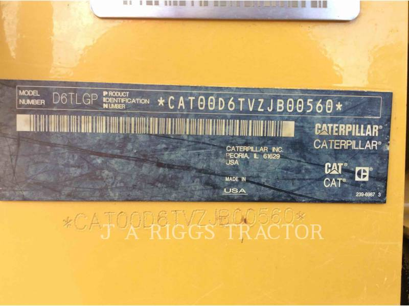 CATERPILLAR TRACK TYPE TRACTORS D6TLGP AG equipment  photo 5