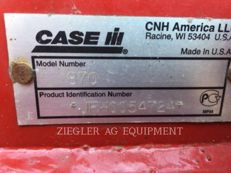 CASE/NEW HOLLAND AG TILLAGE EQUIPMENT 870 equipment  photo 9
