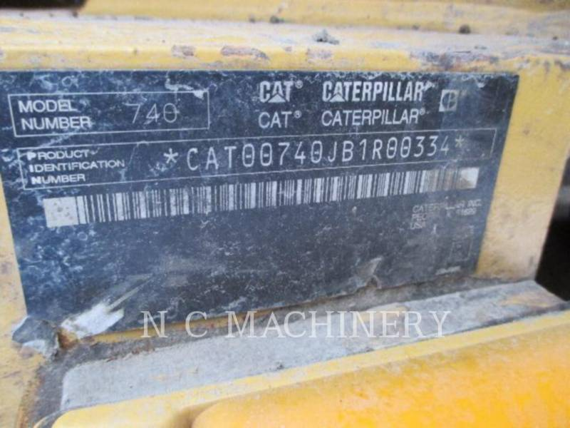 CATERPILLAR ARTICULATED TRUCKS 740 EJECT equipment  photo 8