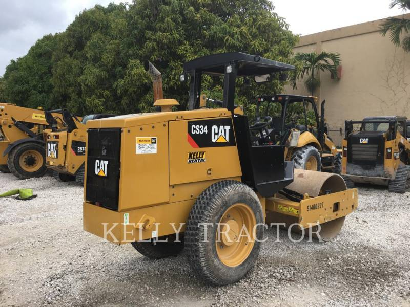 CATERPILLAR COMPACTEUR VIBRANT, MONOCYLINDRE LISSE CS34 equipment  photo 6