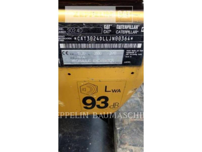 CATERPILLAR トラック油圧ショベル 302.4D equipment  photo 19