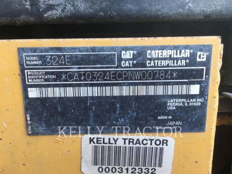 CATERPILLAR TRACK EXCAVATORS 324EL equipment  photo 20