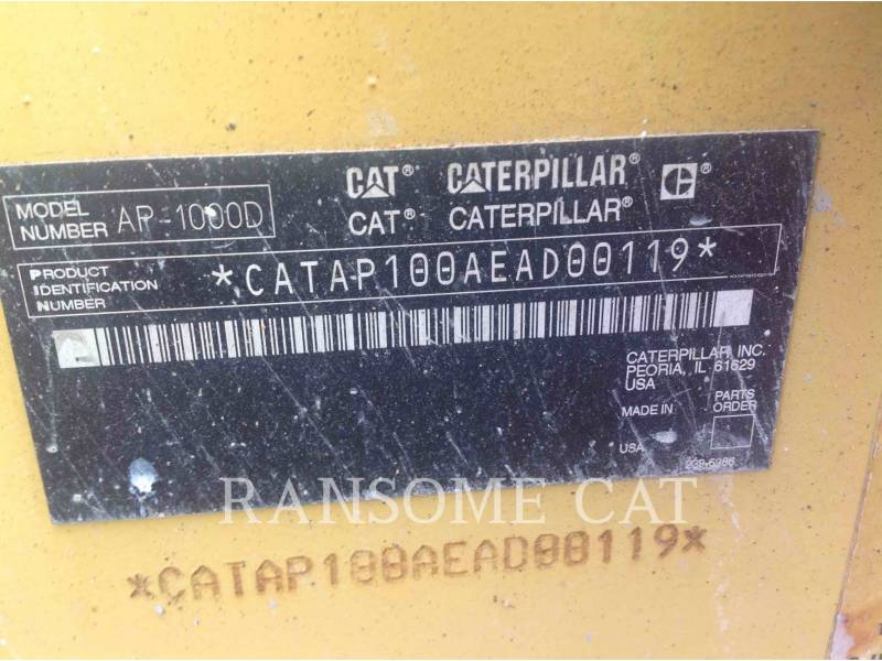 CATERPILLAR SCHWARZDECKENFERTIGER AP-1000D equipment  photo 6
