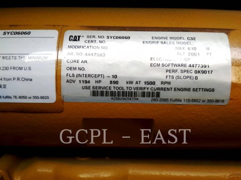 CATERPILLAR ステーショナリ - ディーゼル (OBS) 1010 KVA equipment  photo 4