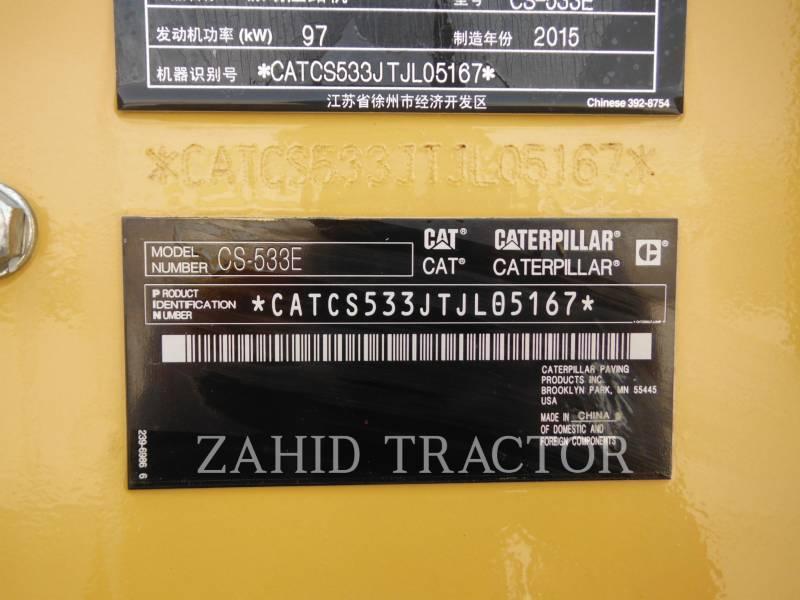 CATERPILLAR TRILLENDE ENKELE TROMMEL GLAD CS-533E equipment  photo 5