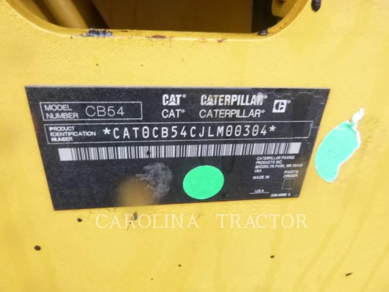 CATERPILLAR ROLO COMPACTADOR DE ASFALTO DUPLO TANDEM CB54 equipment  photo 10