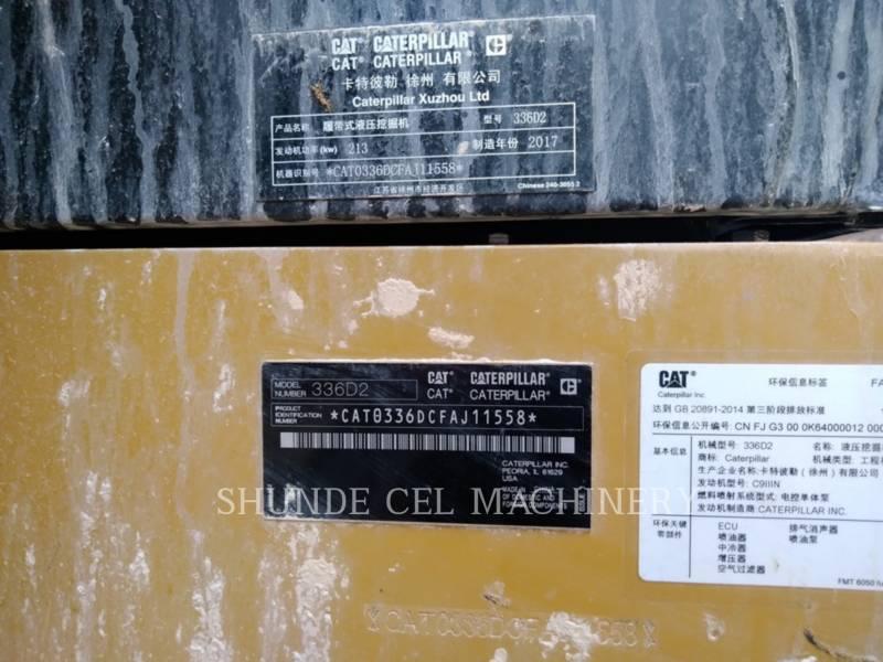CATERPILLAR TRACK EXCAVATORS 336D2 equipment  photo 3
