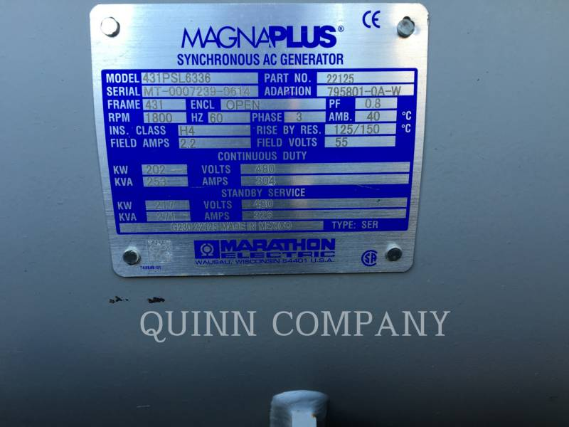 MAGNUM PORTABLE GENERATOR SETS MMG235 equipment  photo 4