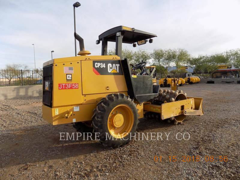 CATERPILLAR COMPATTATORE A SINGOLO TAMBURO VIBRANTE TASSELLATO CP34 equipment  photo 2