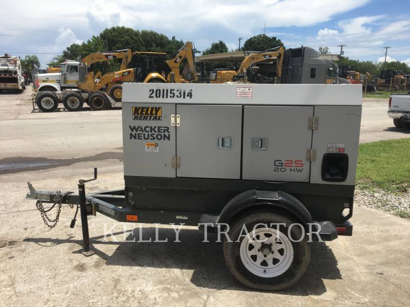 WACKER CORPORATION MOBILE GENERATOR SETS G25 equipment  photo 5