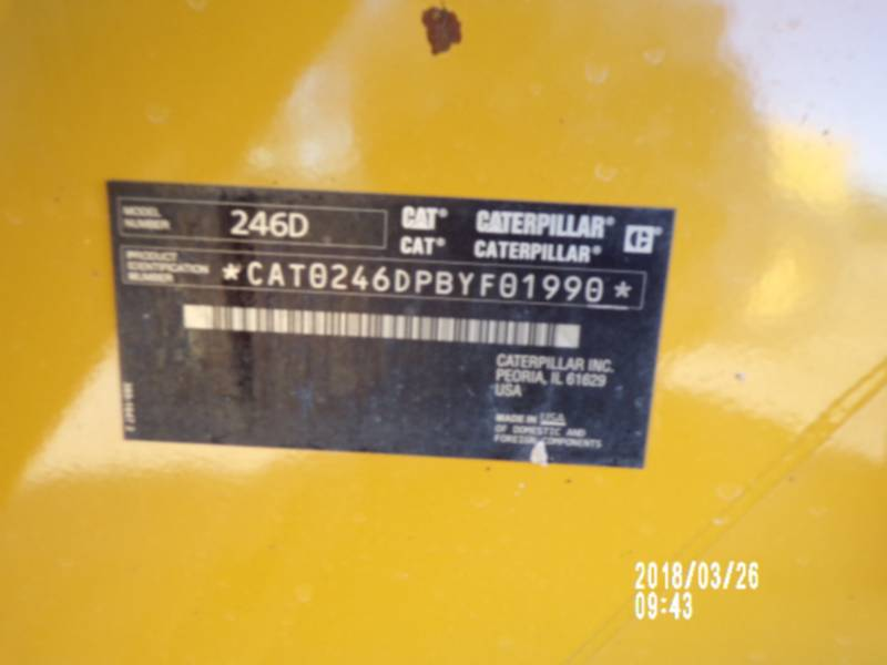 CATERPILLAR CHARGEURS COMPACTS RIGIDES 246D equipment  photo 16