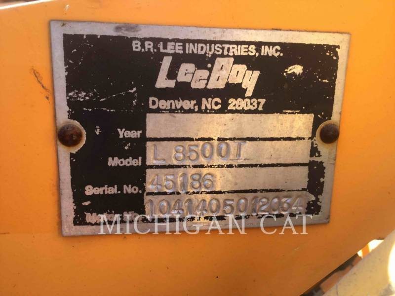 LEE-BOY ASPHALT PAVERS L8500 equipment  photo 14