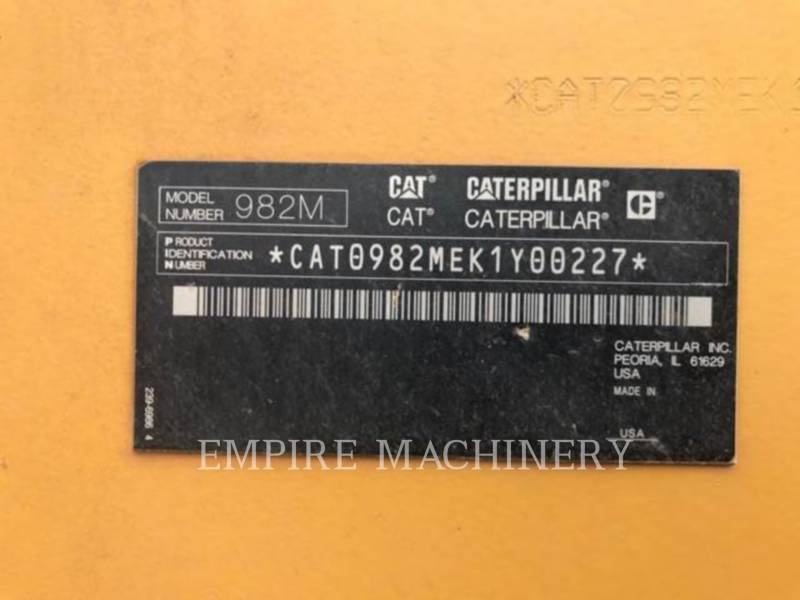 CATERPILLAR WHEEL LOADERS/INTEGRATED TOOLCARRIERS 982M equipment  photo 15