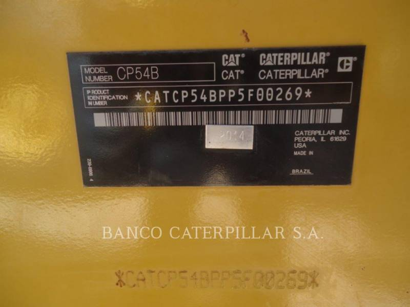CATERPILLAR ACOLCHOADO DO TAMBOR ÚNICO VIBRATÓRIO CP54B equipment  photo 6