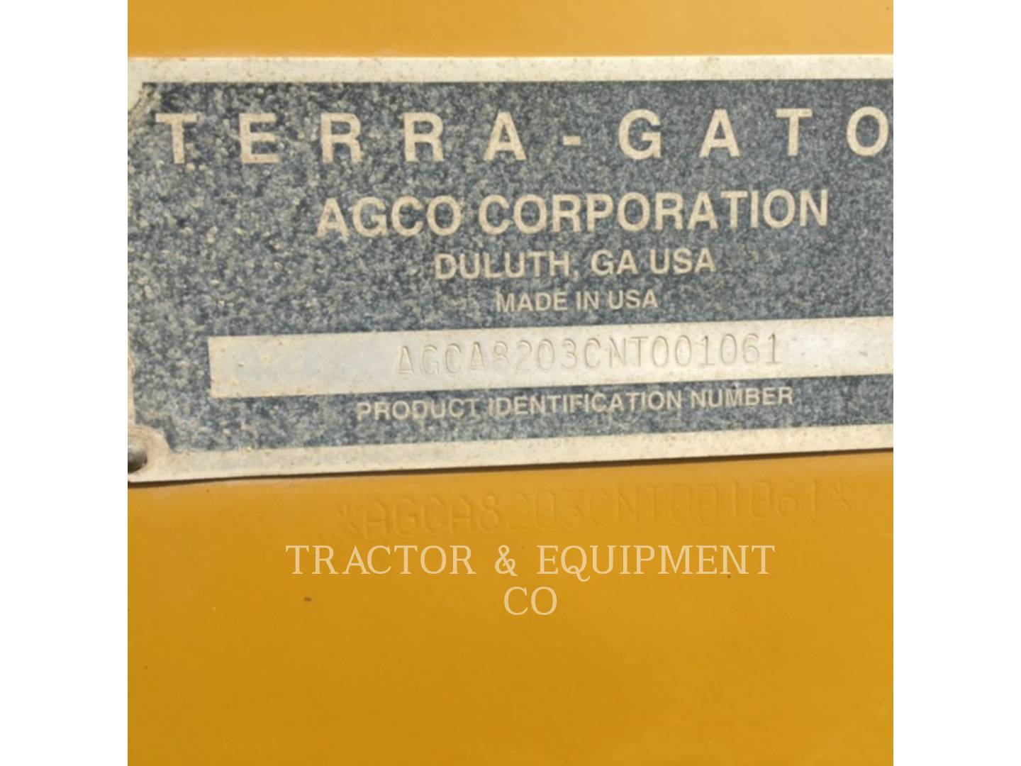 Detail photo of 2009 Ag-Chem TG8203 from Construction Equipment Guide