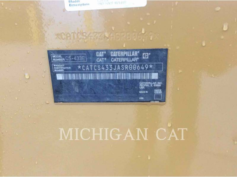 CATERPILLAR EINZELVIBRATIONSWALZE, GLATTBANDAGE CS-433E equipment  photo 9