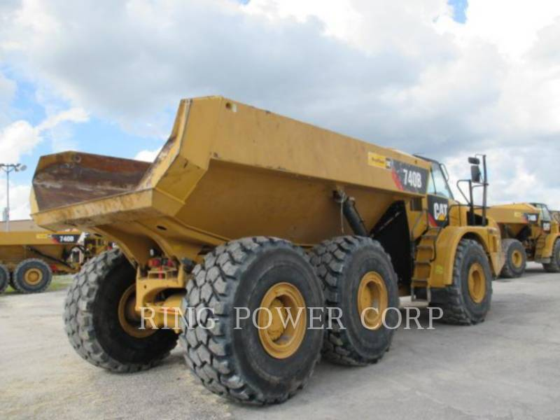 CATERPILLAR KNIKGESTUURDE TRUCKS 740B equipment  photo 3