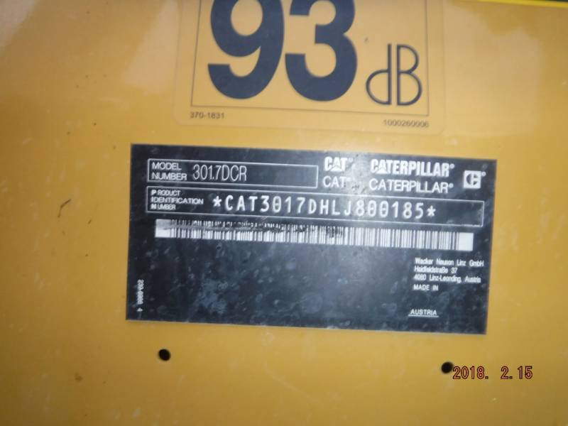 CATERPILLAR TRACK EXCAVATORS 301.7DCR equipment  photo 14