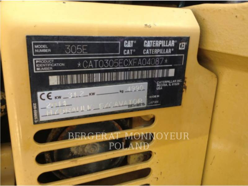 CATERPILLAR ESCAVATORI CINGOLATI 305ECR equipment  photo 2