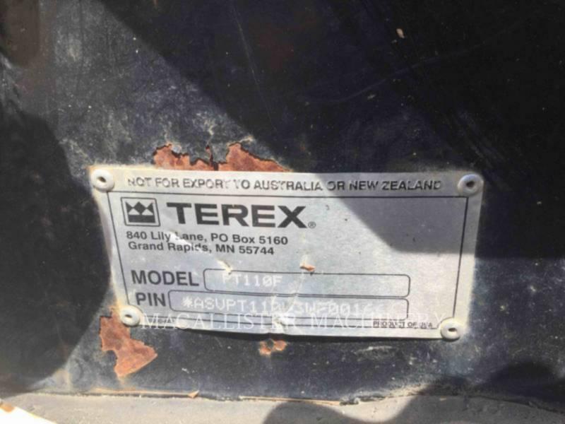 TEREX CORPORATION MULTI TERRAIN LOADERS PT110 equipment  photo 15