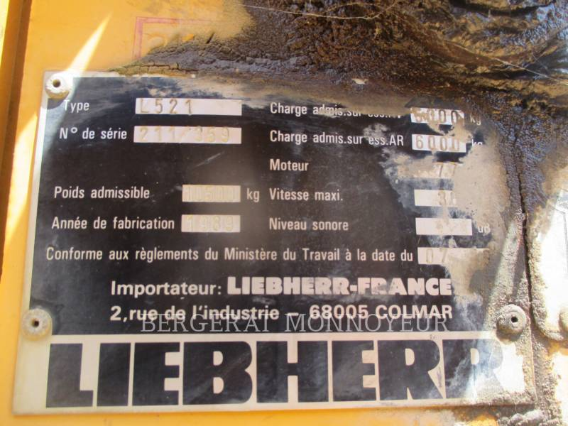 LIEBHERR PALE GOMMATE/PALE GOMMATE MULTIUSO L521 equipment  photo 4