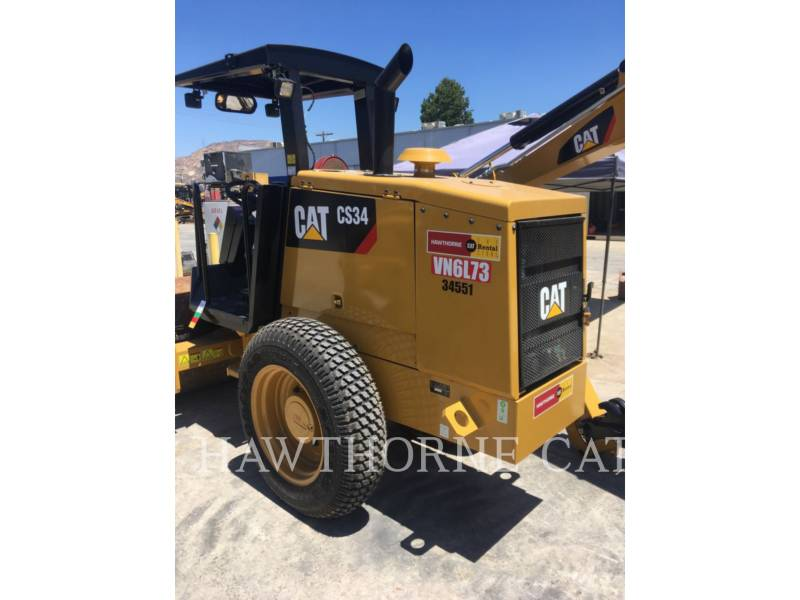 CATERPILLAR COMPATTATORE A SINGOLO TAMBURO VIBRANTE LISCIO CS34 equipment  photo 7