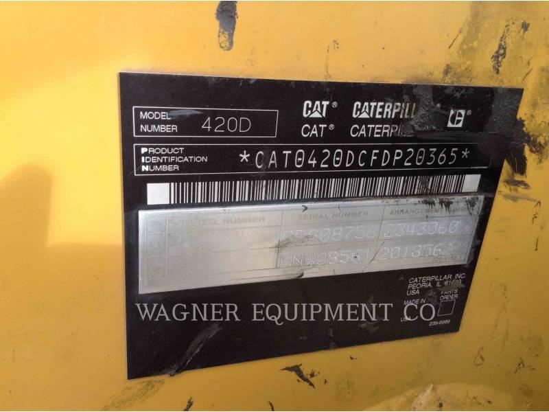 CATERPILLAR RETROEXCAVADORAS CARGADORAS 420D 4WDE equipment  photo 5