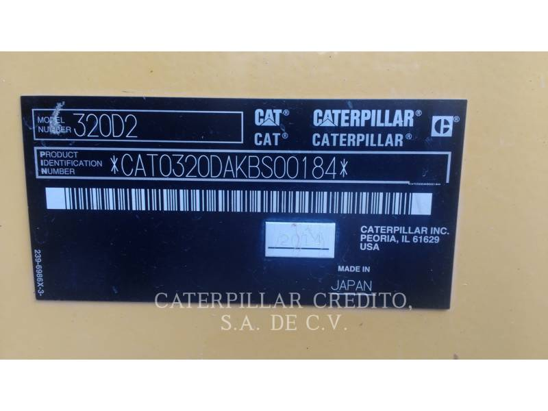 CATERPILLAR EXCAVADORAS DE CADENAS 320D2 equipment  photo 7