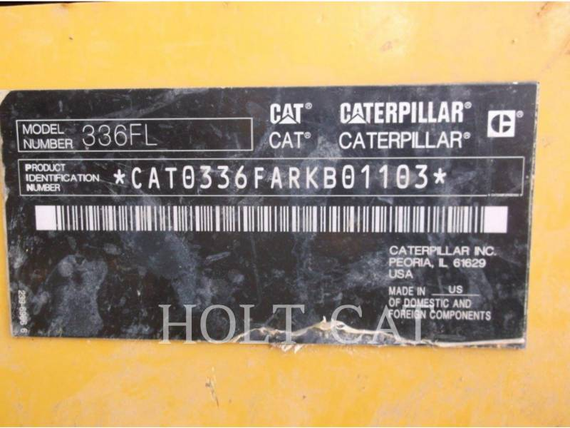 CATERPILLAR KETTEN-HYDRAULIKBAGGER 336FL equipment  photo 5