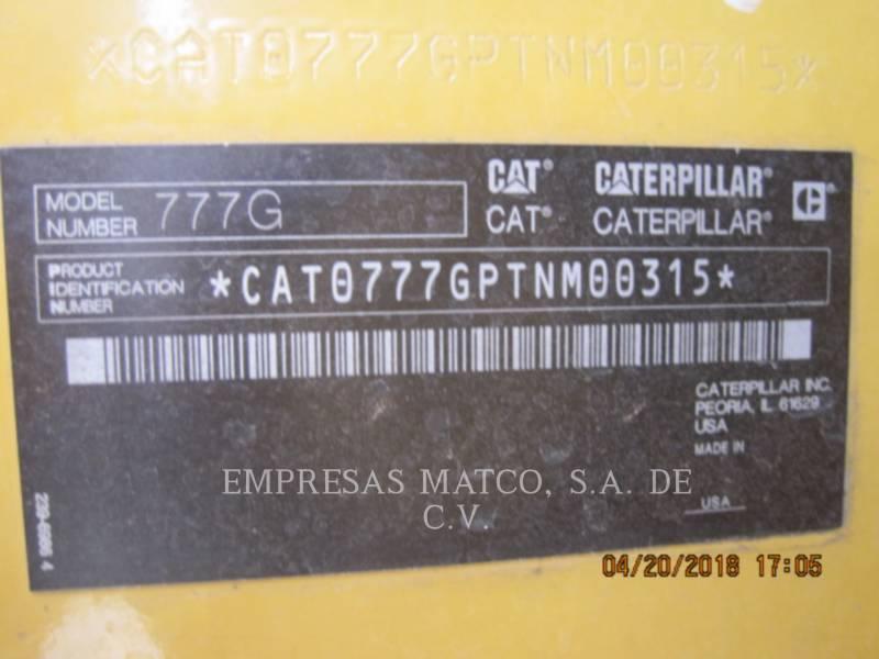 CATERPILLAR MINING OFF HIGHWAY TRUCK 777GLRC equipment  photo 5