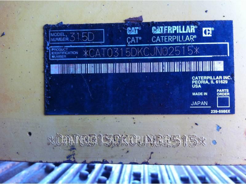 CATERPILLAR EXCAVADORAS DE CADENAS 315DL equipment  photo 20