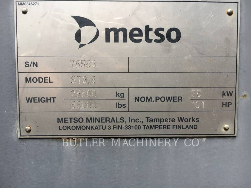 METSO CRIBAS ST3.5LOKOT equipment  photo 18