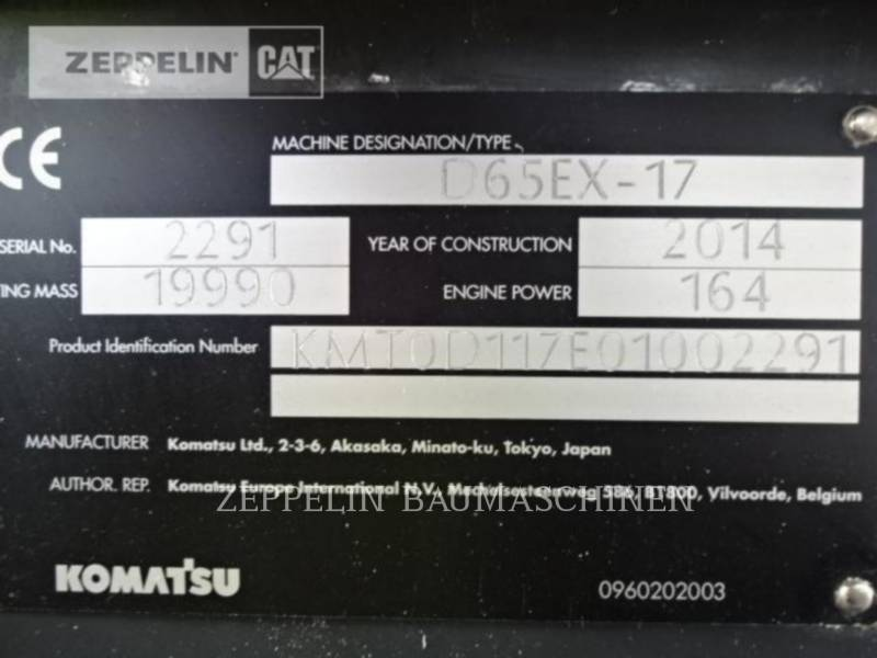 KOMATSU LTD. TRACTORES DE CADENAS D65EX-17 equipment  photo 10