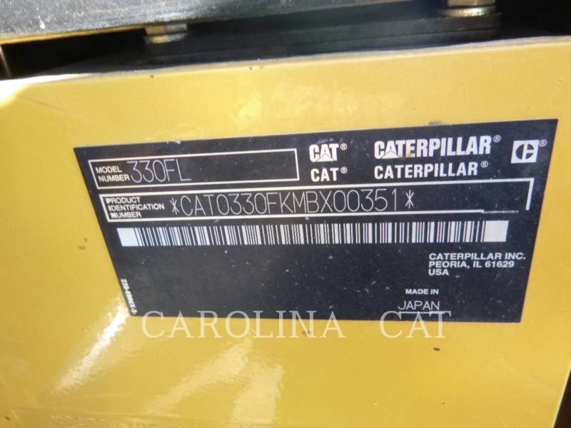 CATERPILLAR TRACK EXCAVATORS 330F TH equipment  photo 9