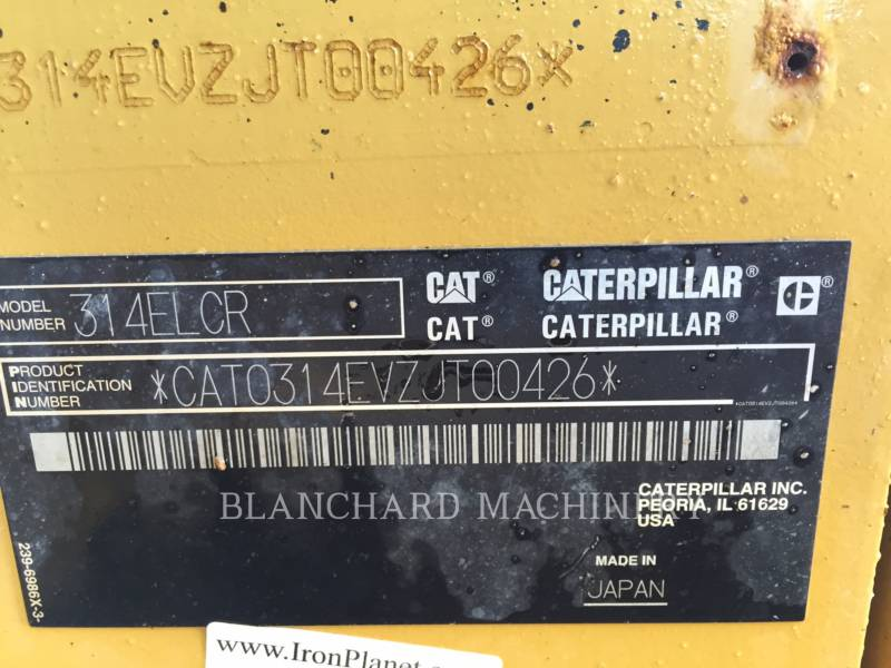 CATERPILLAR PELLES SUR CHAINES 314ELCR equipment  photo 8